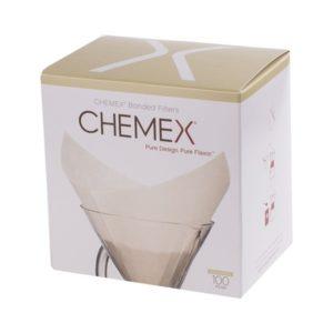 Chemex filtry papierowe kwadratowe - Białe - 6, 8, 10 filiżanek