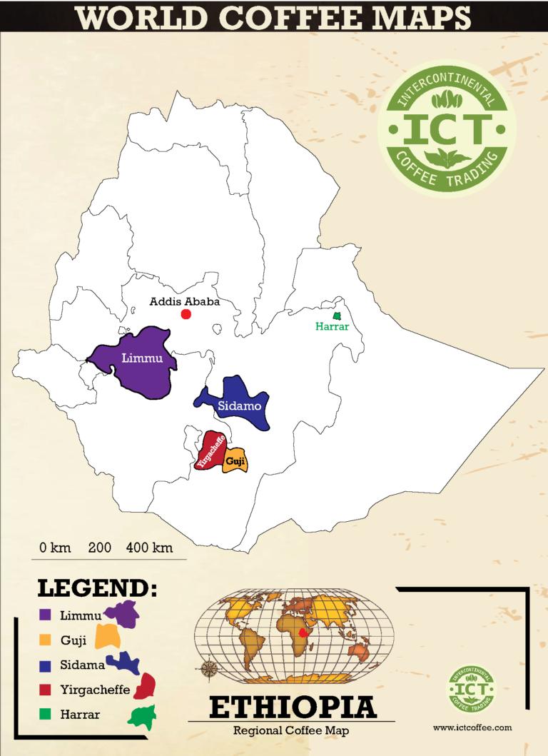 Etiopia kawa mapa